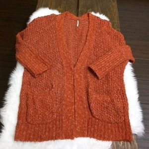 Free People Orange cardigan Small